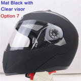 New Arrivals Best Sales Safe Flip Up Motorcycle Helmet With Inner Sun Visor Everybody Affordable Double Lens Motorbike Helmet - Hespirides Gifts - 3