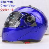 New Arrivals Best Sales Safe Flip Up Motorcycle Helmet With Inner Sun Visor Everybody Affordable Double Lens Motorbike Helmet - Hespirides Gifts - 19