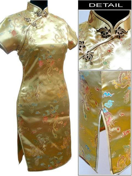 buy special offer navy blue chinese womens mini cheongsam