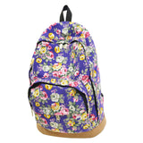 Vintage Retro Rose Floral Printing Backpack Women's Canvas Travel Backpack for Teenage Girls Rucksack - Hespirides Gifts - 4