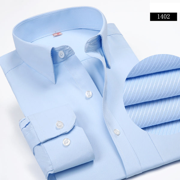 Men Long Sleeved Shirt Slim Fit Style Design Solid Color Business Casual Dress Shirt Male Social Brand Men Clothing 2016 New