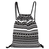 National Women Canvas Drawstring Backpack Newest Vintage College Students School Bagpack Girls Mochila Feminina Sports Sack Bag - Hespirides Gifts - 4