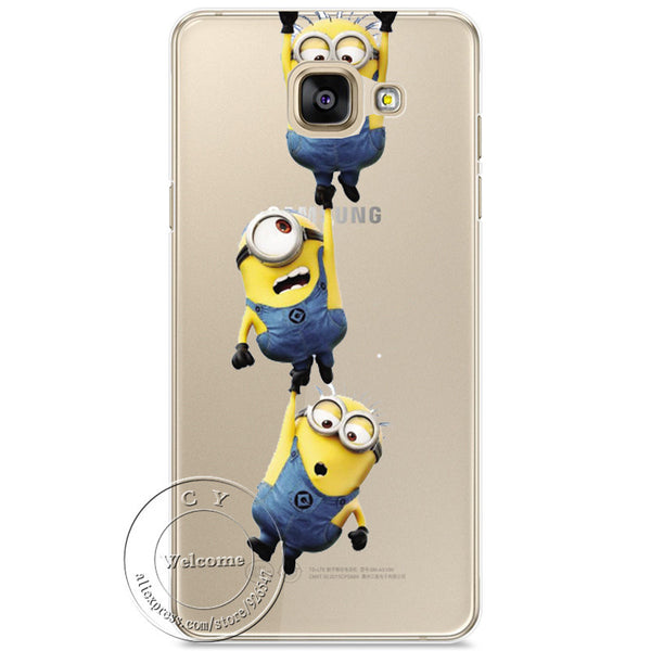 Minions Cat Mickey & Minnie Kiss Hard Case Cover For Samsung Galaxy A310 A510 A710 J110 J510 J710 A3 A5 A7 J1 J5 J7 2016 - Hespirides Gifts - 2