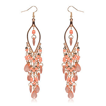 Earings Promotion Direct Selling Women Brincos Sterling Jewelry 2015 Newest Arrival Peacock Shape Long Tassel Drop Earrings - Hespirides Gifts - 2