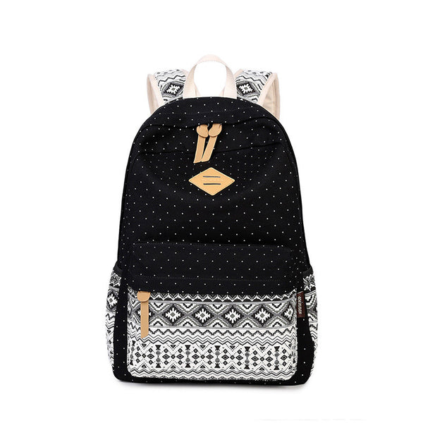 School Bags for Teenagers Girls Schoolbag Large Capacity Ladies Canvas Printing School Backpack Rucksack Bagpack Cute Book Bags
