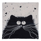 Cartoon images Linen Cotton Blend Cushion Cover Home Office Sofa Square Cat Pillow Case Decorative Cushion Covers Pillowcases - Hespirides Gifts - 3