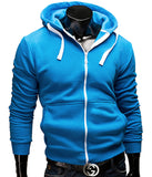 Fashion Brand Hoodies Men Casual Sportswear Man Hoody Zipper Long-sleeved Sweatshirt Men Five Colors Slim Fit  Men Hoodie