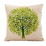 Season Life Tree Cotton Linen Colorful Decorative Pillow Case Chair Square Waist and Seat 45x45cm Pillow Cover Home Textile - Hespirides Gifts - 7