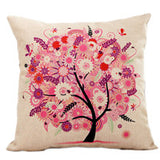 Season Life Tree Cotton Linen Colorful Decorative Pillow Case Chair Square Waist and Seat 45x45cm Pillow Cover Home Textile - Hespirides Gifts - 3