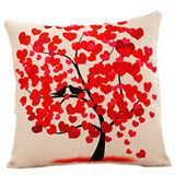 Season Life Tree Cotton Linen Colorful Decorative Pillow Case Chair Square Waist and Seat 45x45cm Pillow Cover Home Textile - Hespirides Gifts - 5