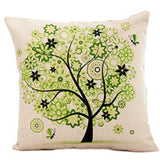 Season Life Tree Cotton Linen Colorful Decorative Pillow Case Chair Square Waist and Seat 45x45cm Pillow Cover Home Textile - Hespirides Gifts - 11