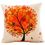 Season Life Tree Cotton Linen Colorful Decorative Pillow Case Chair Square Waist and Seat 45x45cm Pillow Cover Home Textile - Hespirides Gifts - 4