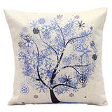 Season Life Tree Cotton Linen Colorful Decorative Pillow Case Chair Square Waist and Seat 45x45cm Pillow Cover Home Textile - Hespirides Gifts - 6