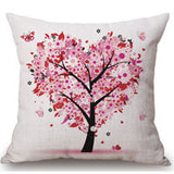 Season Life Tree Cotton Linen Colorful Decorative Pillow Case Chair Square Waist and Seat 45x45cm Pillow Cover Home Textile - Hespirides Gifts - 2