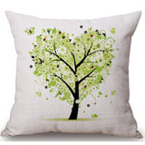 Season Life Tree Cotton Linen Colorful Decorative Pillow Case Chair Square Waist and Seat 45x45cm Pillow Cover Home Textile - Hespirides Gifts - 10