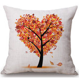 Season Life Tree Cotton Linen Colorful Decorative Pillow Case Chair Square Waist and Seat 45x45cm Pillow Cover Home Textile - Hespirides Gifts - 8