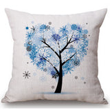 Season Life Tree Cotton Linen Colorful Decorative Pillow Case Chair Square Waist and Seat 45x45cm Pillow Cover Home Textile - Hespirides Gifts - 9
