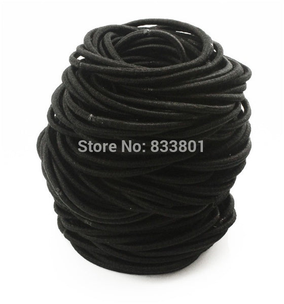 Free Shipping100pcs/lot 50mm Thin Candy Colored Child Hair Holders Rubber Bands Black Elastics Girl Women Tie Gum