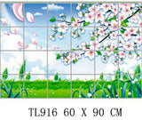 Waterproof aluminum foil wall stickers tiled kitchen bathroom wall decoration tulip flowers plant roses decorated - Hespirides Gifts - 14