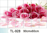 Waterproof aluminum foil wall stickers tiled kitchen bathroom wall decoration tulip flowers plant roses decorated - Hespirides Gifts - 2