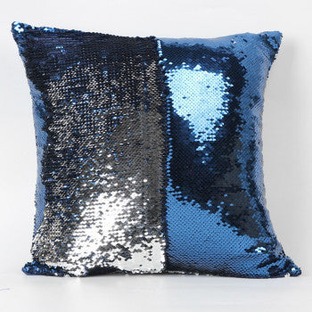 Happy New Fashion Beauty Double 40X40CM Color Glitter Sequins Throw Pillow Case Cafe Home - Hespirides Gifts - 9