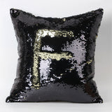 Happy New Fashion Beauty Double 40X40CM Color Glitter Sequins Throw Pillow Case Cafe Home - Hespirides Gifts - 5