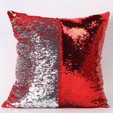 Happy New Fashion Beauty Double 40X40CM Color Glitter Sequins Throw Pillow Case Cafe Home - Hespirides Gifts - 2