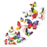 Butterfly Wall Stickers Double Layer 3D Butterflies colorful bedroom living room Home Fridage Decor 12pcs/lot 4 color DA - Hespirides Gifts - 5