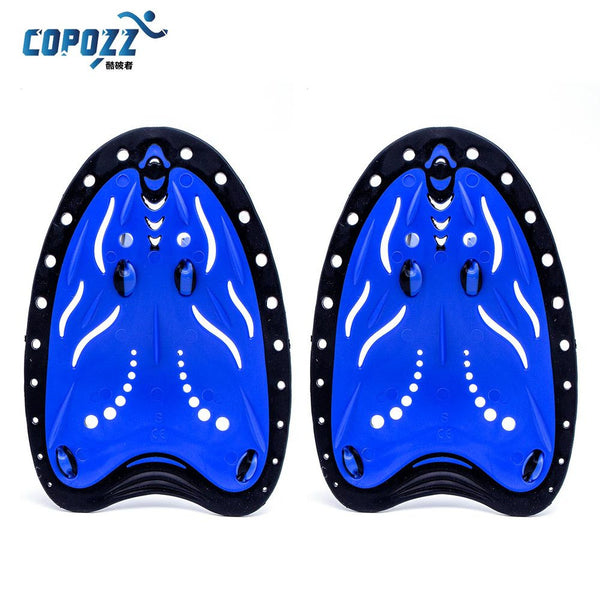 COPOZZ Adjustable Silicone Hand Swimming Trax Paddles Fins Flippers Webbed Training Pool Diving Gloves padel Aletas Men Women - Hespirides Gifts - 2