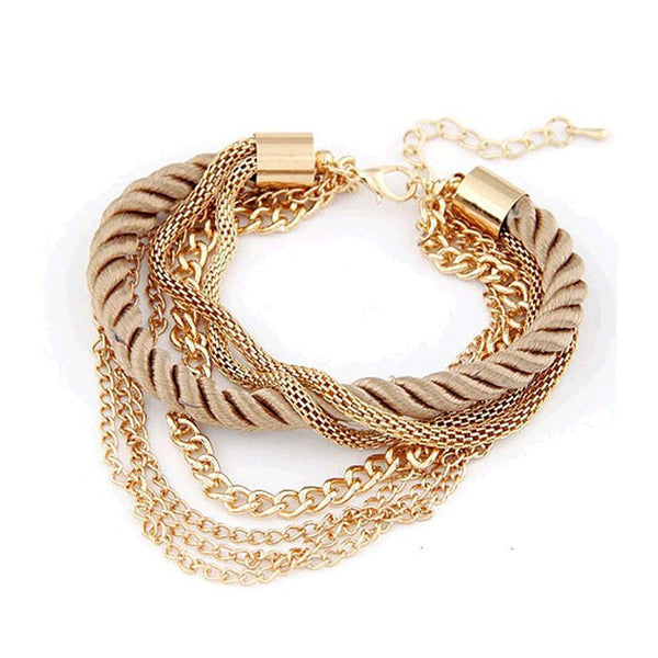 New Fashion rope chain bracelet decoration for girl of six colors hot selling bracelet for special summer party accessory - Hespirides Gifts - 7