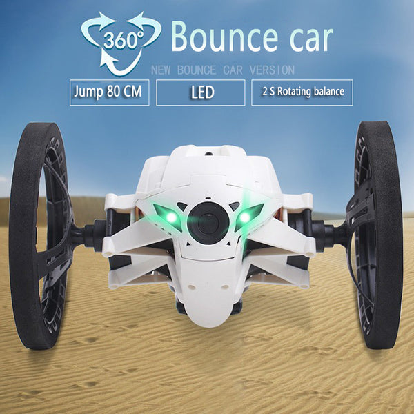 Mini Bounce Car SJ80 RC Cars 4CH 2.4GHz Jumping Sumo RC Car with Flexible Wheels Remote Control Robot Car - Hespirides Gifts