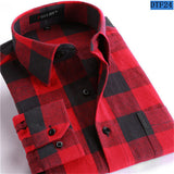 Men Flannel Plaid Shirt 100% Cotton 2016 Spring Autumn Casual Long Sleeve Shirt Soft Comfort Slim Fit Styles Brand Man Clothes