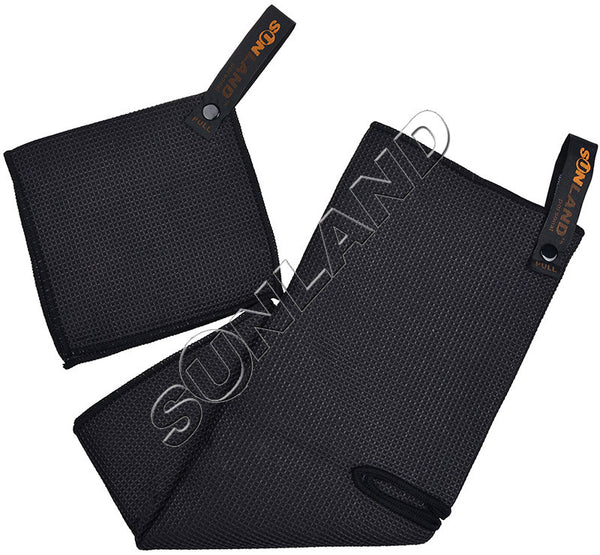 Sunland Microfiber Deep Waffle Weave Golf Towels with Free Golf Balls Towel