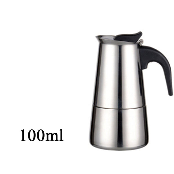 Top Quality Hot Sale 2/4/6/9 Cups Stainless Steel Moka Espre sso Latte Percolator Stove Top Coffee Maker Pot