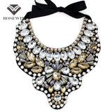 Women Handmade Exaggerate Crystal Big Necklace Hi-Q Gems Bead Bib Collar Fashion Statement Necklaces Maxi Jewelry Bijoux femme - Hespirides Gifts - 1