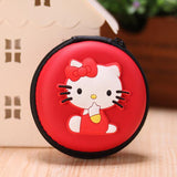Women Kawaii Animals Cartoon Stitch Hello Kitty Silicone Coin Purse Key kids Girls Wallet Earphone Organizer Box Bags