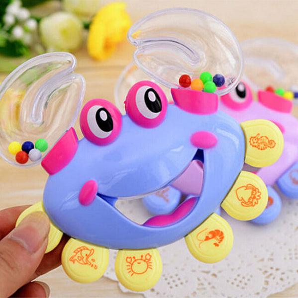Hot Sale Interactive Crab Shape Rattles for Babies Handbell Developmental Baby Rattles Mobiles Toy Plastic - Hespirides Gifts