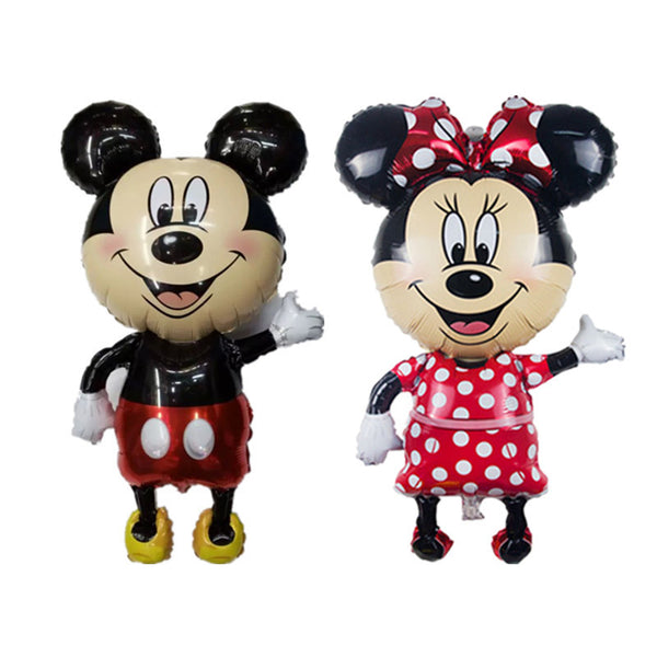 Large 112*64 cm Minnie Mickey foil balloons red Bowknot standing mouse Polka dot wedding birthday party decor supplies globos - Hespirides Gifts