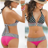 P&j Women RETRO Vintage Sexy High Waist Bikinis Set Swimsuit Bandage Swimwear Bathing Suit Beachwear Bikini Women sexy Bikinis
