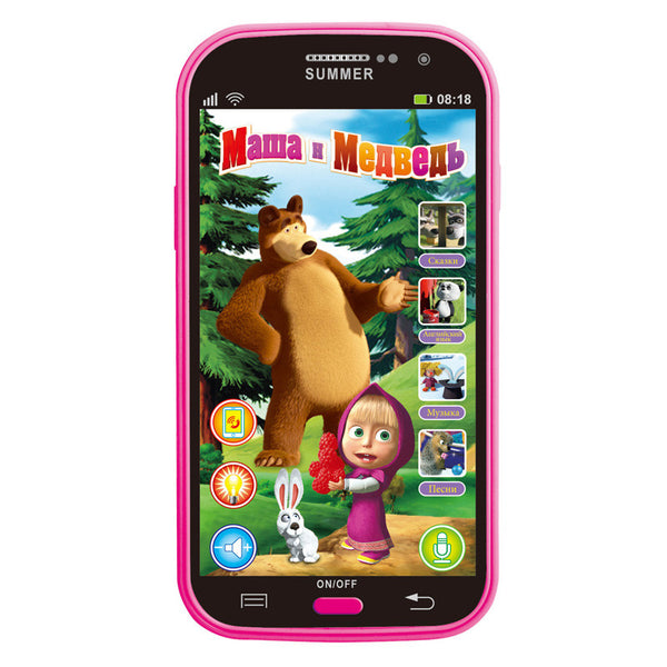 Talking Masha and Bear Dolls Phone Learning & Education Russian Language Baby Mobilephone Electronic Kid's Toys Phone - Hespirides Gifts