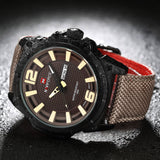 Luxury Brand Military Watch Men Quartz Analog Clock Leather Canvas Strap Clock Man Sports Watches Army Relogios Masculino - Hespirides Gifts - 11