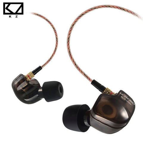 KZ ATE S Copper Driver HiFi Sport Headphones In Ear Earphone For Running With Foam Eartips With Microphone - Hespirides Gifts - 1
