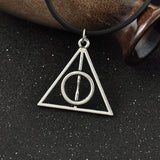 Retro Silver Simple Harry Potter Deathly Hallows Rope Pendant Necklace Elephant Bird Rubber Compass Charms Choker Necklaces - Hespirides Gifts - 5