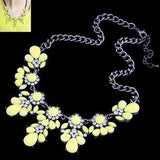 Lemon Value Statement Choker Vintage Charms Maxi Collar Colar Fashion Bijoux Crystal Pendant Necklace Women Jewelry Collier A453 - Hespirides Gifts - 2