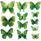 house decoration 12 PCS stereo butterflies refrigerator stickers home decor removable 3D wall stickers home decor - Hespirides Gifts - 15