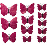 house decoration 12 PCS stereo butterflies refrigerator stickers home decor removable 3D wall stickers home decor - Hespirides Gifts - 9