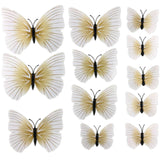 house decoration 12 PCS stereo butterflies refrigerator stickers home decor removable 3D wall stickers home decor - Hespirides Gifts - 4