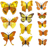 house decoration 12 PCS stereo butterflies refrigerator stickers home decor removable 3D wall stickers home decor - Hespirides Gifts - 18