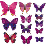 house decoration 12 PCS stereo butterflies refrigerator stickers home decor removable 3D wall stickers home decor - Hespirides Gifts - 20