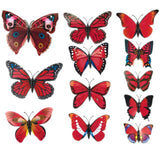 house decoration 12 PCS stereo butterflies refrigerator stickers home decor removable 3D wall stickers home decor - Hespirides Gifts - 22